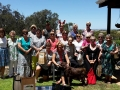 Lovely ladies from Kwinana Golf Club with Jasper the dog, on their Christmas party tour.