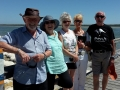 Lovely people from England, South Africa and Perth at the Thrombolites on our Cruise and Tour with Mandurah Cruises.