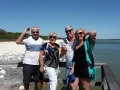 Lovely people from Victoria and Fremantle staying atMandurah Quay Resort enjoying their 1/2 day tour on Mandurah Wine Tours. This picture is taken at The Thrombolites at Lake Clifton.