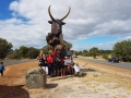 Magnificent Margaret River tourers from Geraldton, Mandurah and Fiji at Fergus the Bull on Margaret River tour in one day.