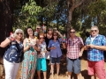 Great Gnomers from Perth and England atGnomesville enjoying their day out on our Mandurah to Ferguson Valley tour.