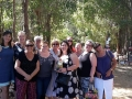 Lovely group of ladies on a corporate tour to Ferguson Valley putting their gnome to rest at.Gnomesville.