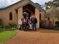 Ferguson Valley tourers with their purchases at Saint Aidan Wines from Mandurah and New Zealand.