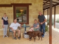 After enjoying their tastings at Vineyard 28 these people from England played with Jasper the Dog, on our Mandurah to Harvey tour.