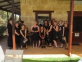 Sisters of Sin (Ladies in Black) out on their Christmas Doo at Vineyard 28 after their tastings on our Mandurah to Harvey tour.