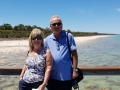 Scrappy Steve and Lynne from Stoke in UK at Lake Clifton Thrombolites - Yalgorup National Parkenjoying the day out on our Mandurah to Harvey Wine Tour. Scrappy means having a good time in Stokeism. I hope I got that right.